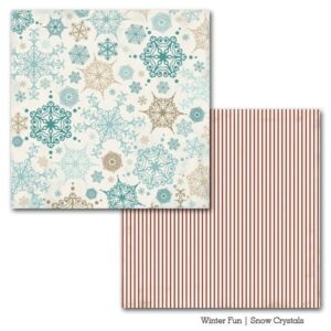 Papel para scrapbooking Carta Bella Snow Crystals - P