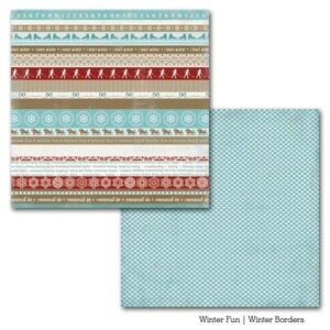 Papel para scrapbooking Carta Bella Winter Borders - P
