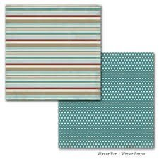 Papel para scrapbooking Carta Bella Winter Stripe - P