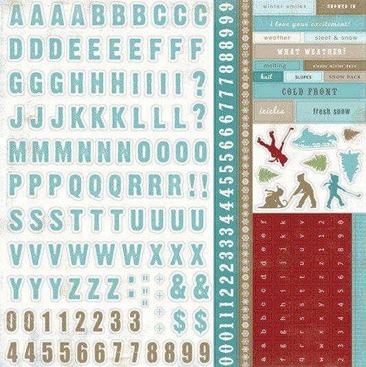 Papel para scrapbooking Carta Bella - AlphaStickers