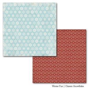 Papel para srapbooking Carta Bella Classic Snowflake - P