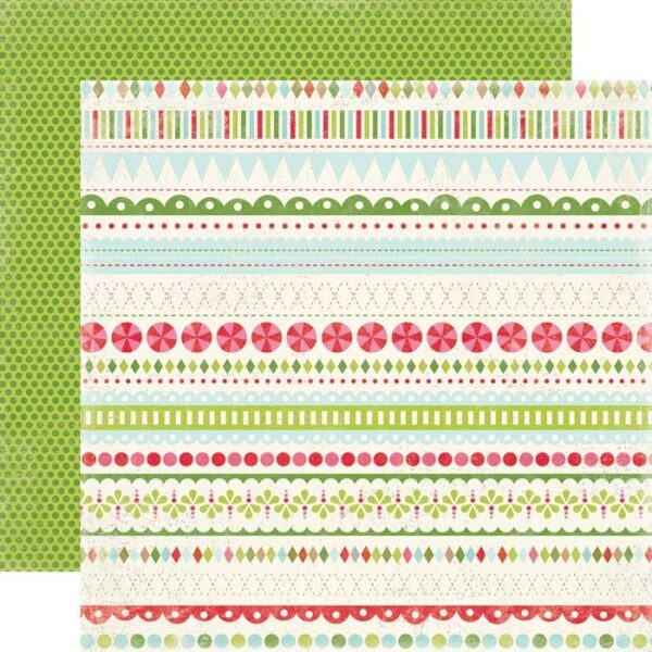 Papel para scrapbooking Carta Bella Merry Borders - P