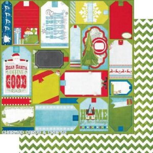 Papel para scrapbooking Bo Bunny Elf Magic Chevron