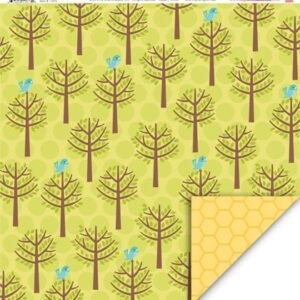 Papel para scrapbooking My Little ShoeBox Up in The Tress - Birds eye View