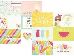 Papel para scrapbooking Simple Stories 4x6 Horizontal Journaling Elements Sunshine and Happiness