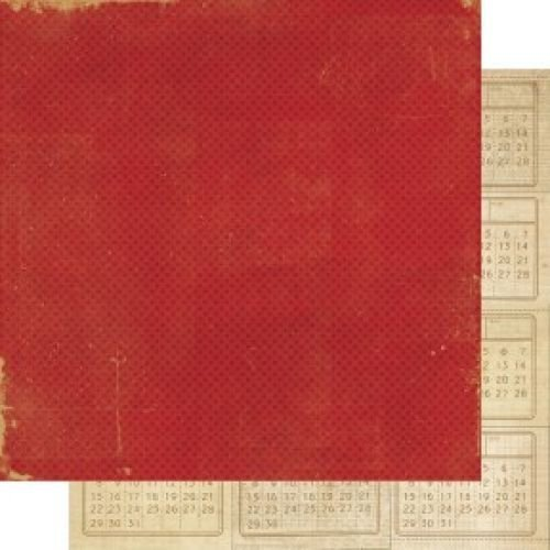 Papel para scrapbooking Simple Stories Red / Mini-calendar