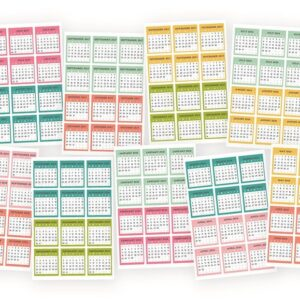 Carpe Diem Mini Monthly Calendar Sticker - P