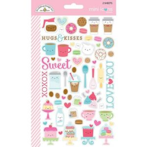 Cream & sugar mini icons sticker -