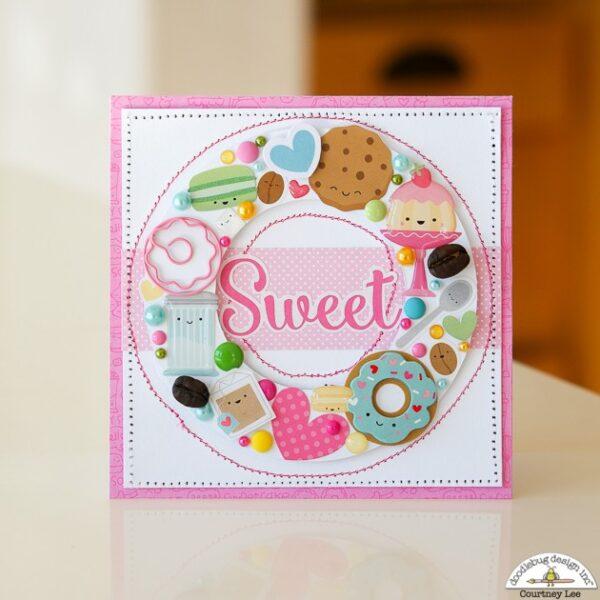 Cream & sugar mini icons sticker -