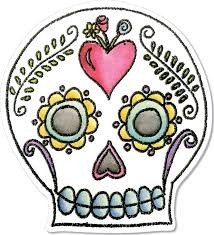 Sizzix Framelits Die Set 4PK w/Stamps - Sugar Skull by Crafty Chica - P
