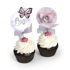 Sizzix Framelits Die Set PK w/Stamps - Cupcake Topper by David Tutera - P