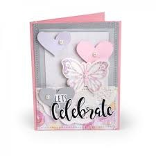 Sizzix Framelits Die Set PK w/Stamps - Let's Celebrate by David Tutera