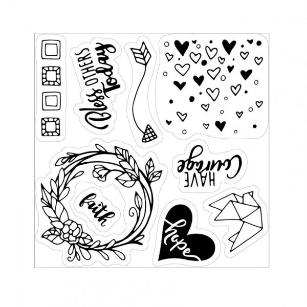 Sizzix Framelits Die Set 13PK w/Stamps - Grace for Today Planner by Katelyn Lizardi - P