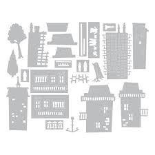 Thinlits Die Set 34PK - Cityscape, Suburbia by Tim Holtz - P