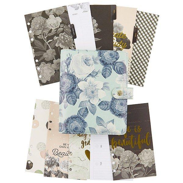 Mint Vintage Floral Personal Planner Boxed Set - P