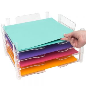 Stackable Paper Trays - 12x12 - Stack and Nest - (4 Pieces) - P