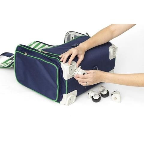 Navy Fold-Up Crafters Bag - P