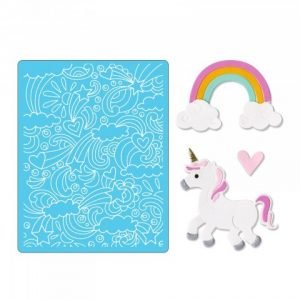 Sizzix Thinlits Die Set 11PK w/Textured Impressions - Unicorn & Rainbows by Lindsey Serata & Jen Lon - P