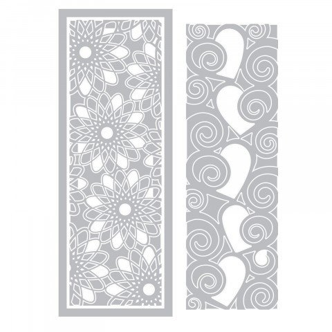 Thinlits Die Set 3PK - Half Card Panels by Stephanie Barnard - P