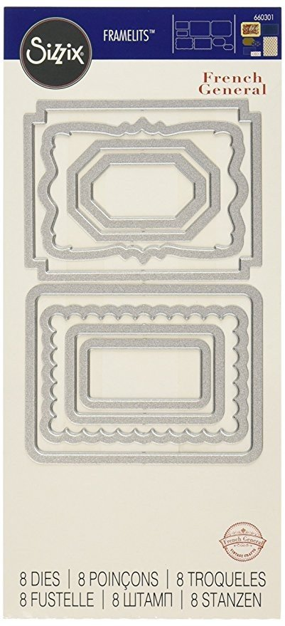 Sizzix Framelits Die Set 8PK - Labels by French General - P