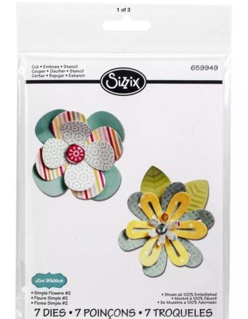 Sizzix Thinlits Die Set 7PK - Simple Flowers 2 by Lori Whitlock