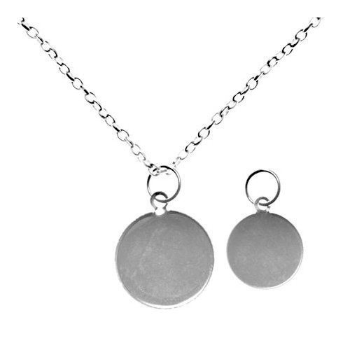 Magni-top Silver Plated Necklace/Pendant - P